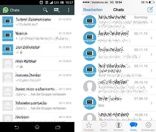 Chats Android iOS