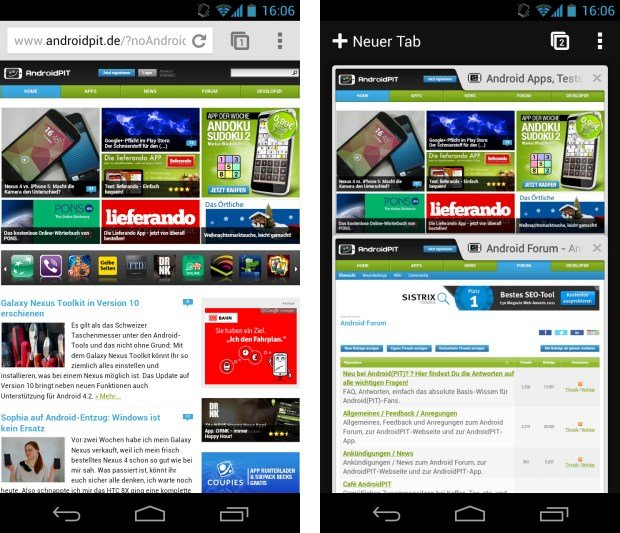 Chrome f r android ab 2013 im gleichschritt mit desktop androidpit - Android app ideen ...