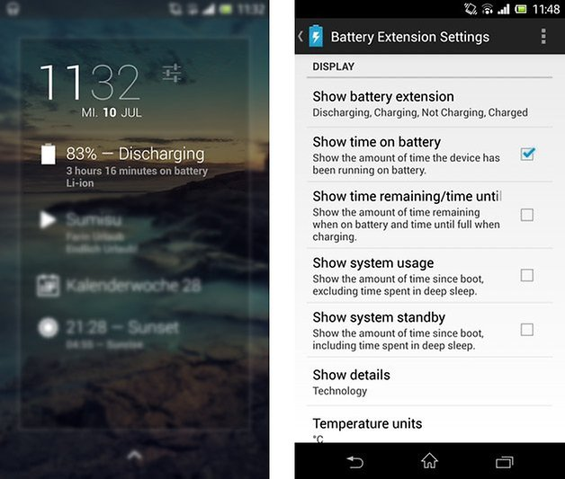 dashclock widget battery