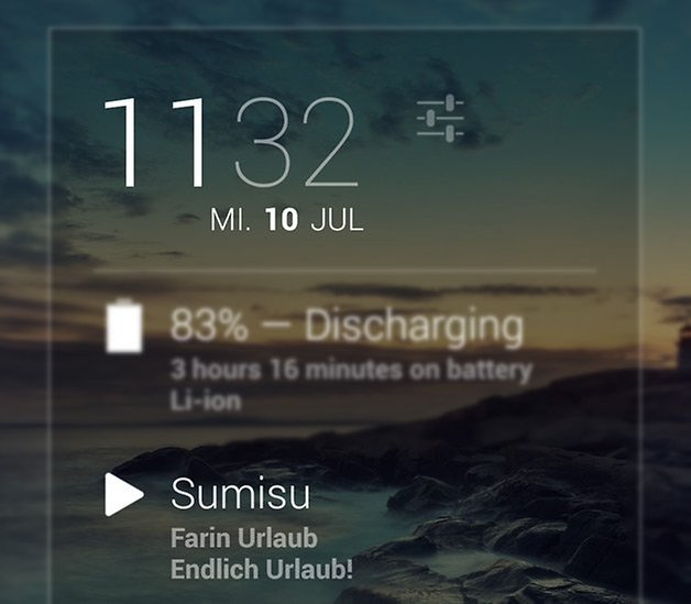 dashclock widget music