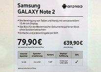 Galaxy Note 2: Kostet 639,90 Euro bei Vodafone