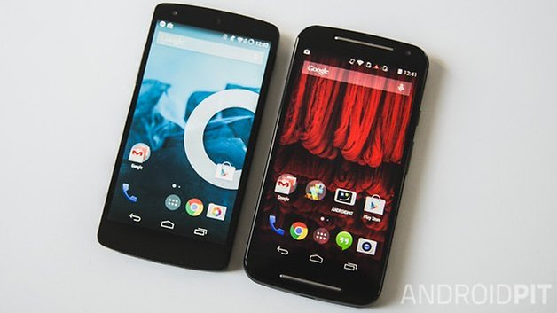 MotoG vs Nexus5 home