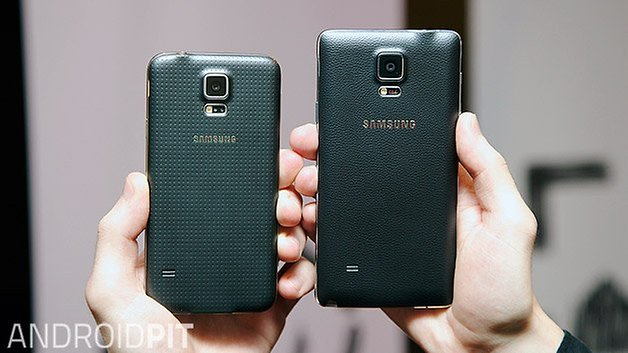 galaxy s5 note 4 back