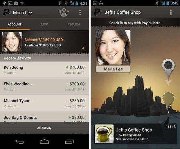 paypal app f r android jetzt komplett neu gestaltet androidpit. Black Bedroom Furniture Sets. Home Design Ideas