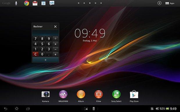 xperia tablet z mini app