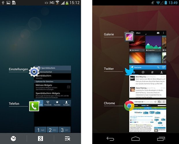 touchwiz android offene apps
