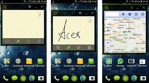 acer liquid e3 plus floating apps