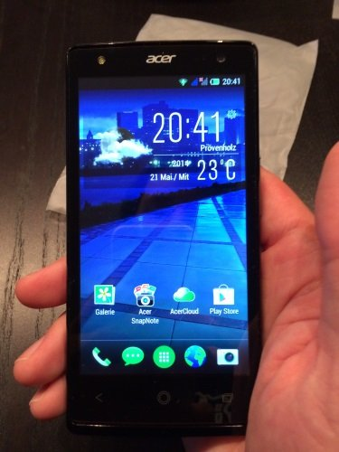 acer liquid e3 plus homescreen