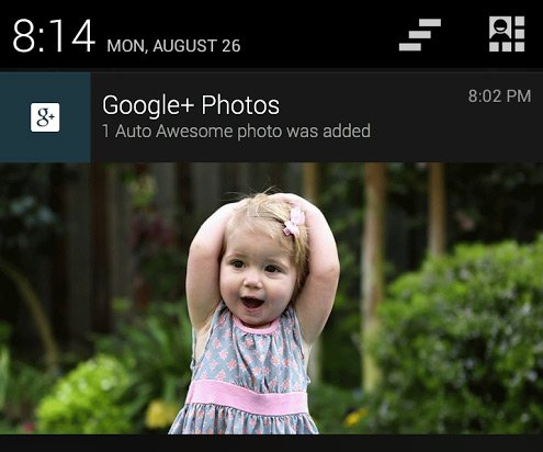 android auto awesome google plus