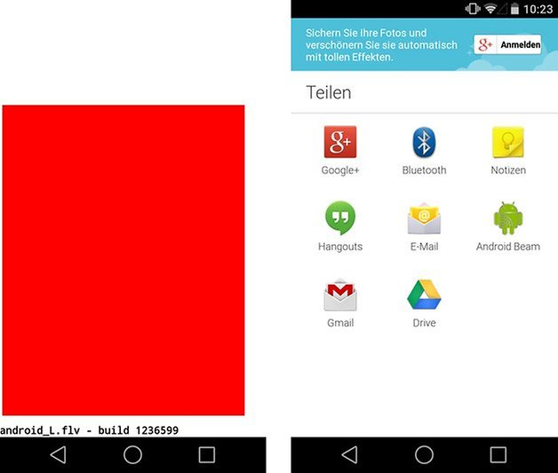android l easter egg teilen
