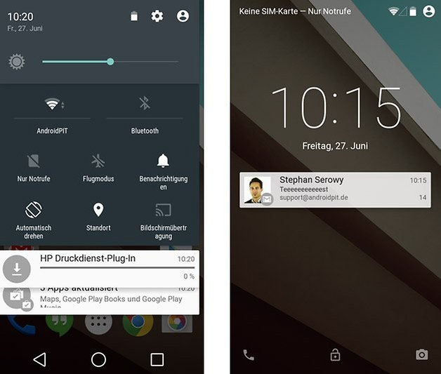 android l quick settings notifications