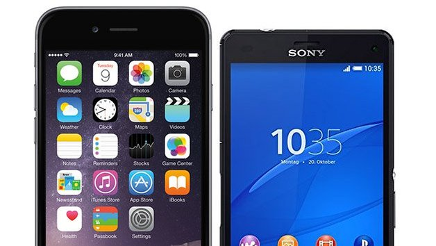 apple iphone 6 xperia z3 compact