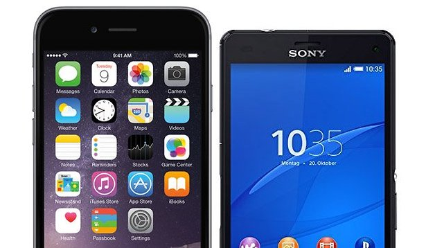 iPhone 6 vs. Sony Xperia Z3 Compact:  comparison of the small premium phones