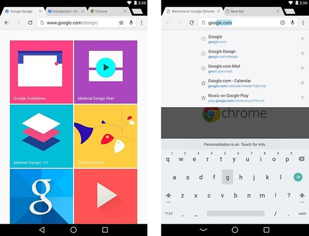 chrome beta android l
