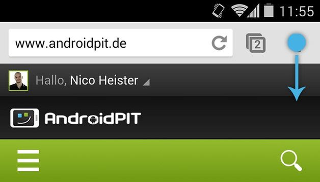chrome gesten menu
