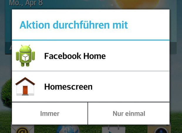 facebook home launcher wahl