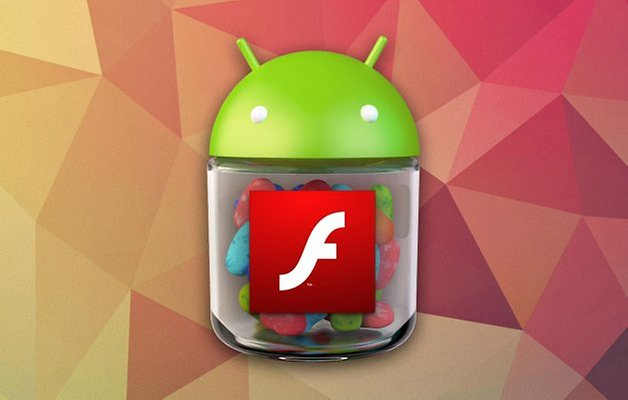 flash player android logo jelly bean