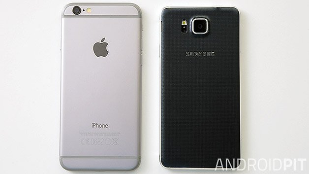galaxy alpha iphone 6 back