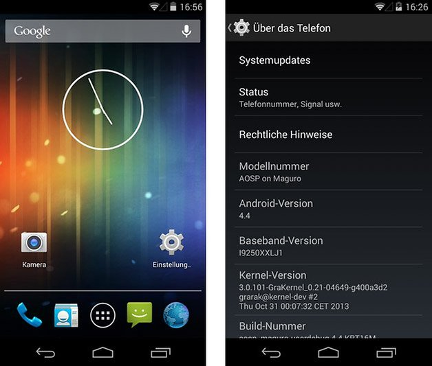 galaxy nexus android 4 4