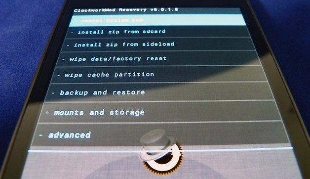 android recovery closeup