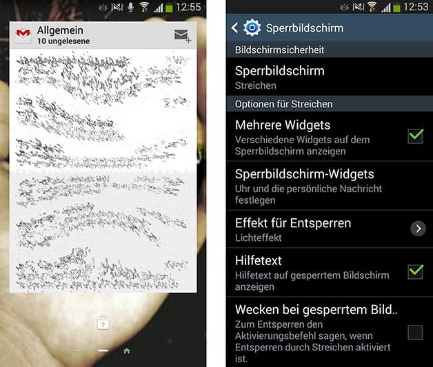 galaxy s3 widgets sperrbildschirm