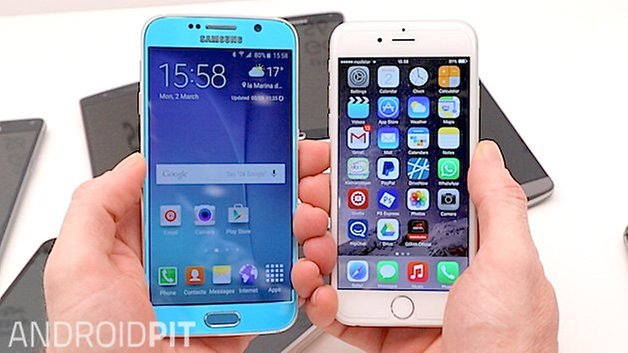 iphone 6 vs samsung galaxy s6 samsung galaxy s6 vs iphone 6 comparaci 243 n androidpit 1468