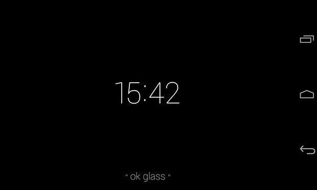 google glass interface main
