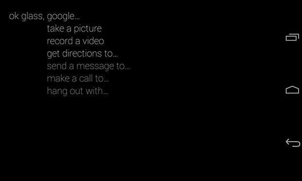 google glass interface ok glass
