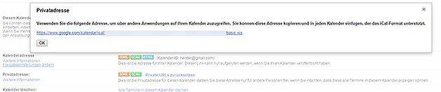 google kalender privatadresse