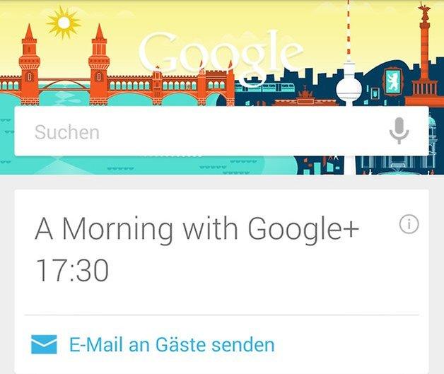 google now kalender anzeige