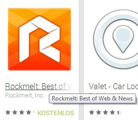 google play store app name mouse over