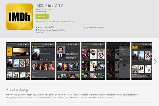 google play store app seite imdb