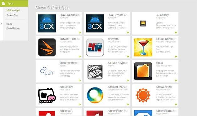 google play store meine apps