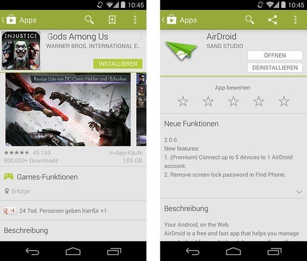 google play store in app kauf bewertung