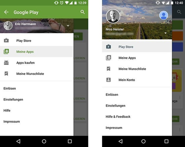 google play store update menu