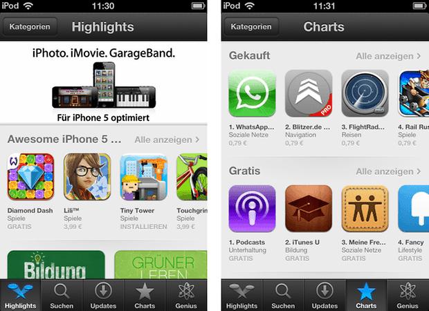 ios 6 app store