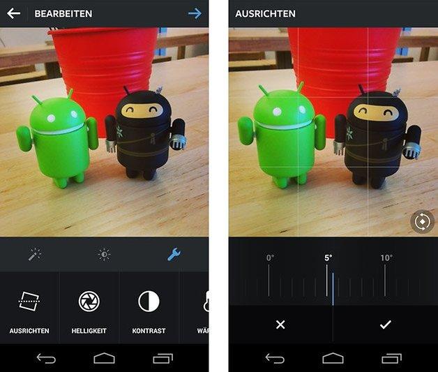 instagram android ausrichten