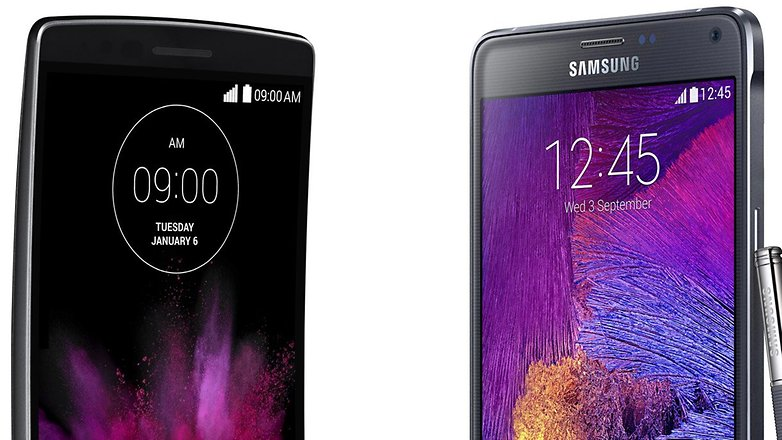 lg g flex 2 vs samsung galaxy note 4