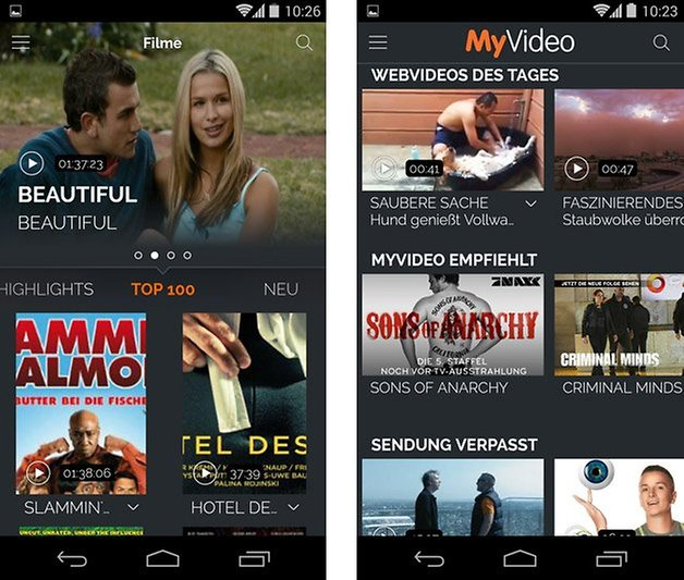 myvideo android filme webvideos des tages