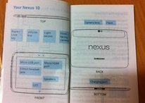 La manuel de la Nexus 10 en photo sur la toile