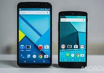 Nexus 6 und Nexus 5 im Größenvergleich