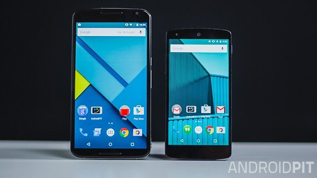 nexus 6 vs nexus 5 comparison front ANDROIDPIT
