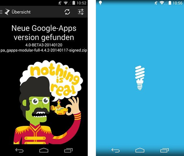 paranoid android updater flashlight