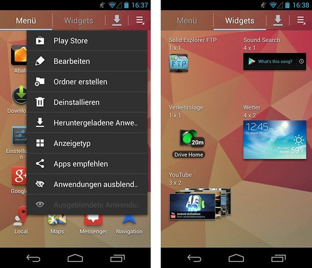 s4 launcher apps widgets