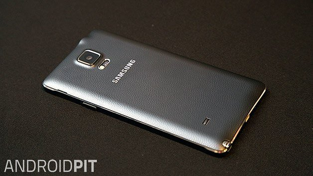 samsung galaxy note 4 back top