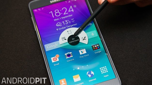 samsung galaxy note 4 s pen air command