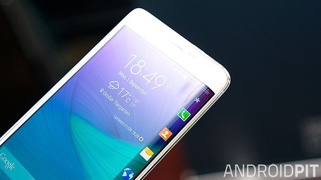samsung galaxy note edge curved display closeup