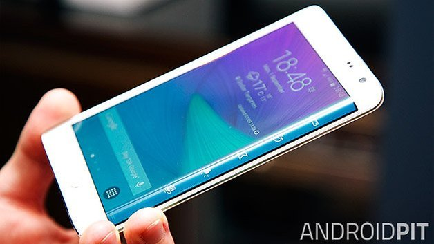 samsung galaxy note edge curved display