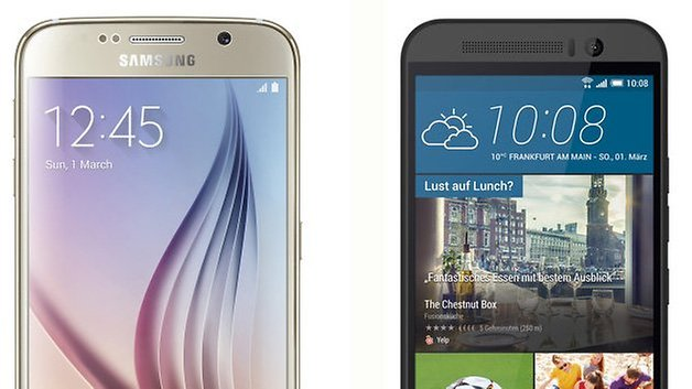 s6 vs samsung galaxy htc one m9