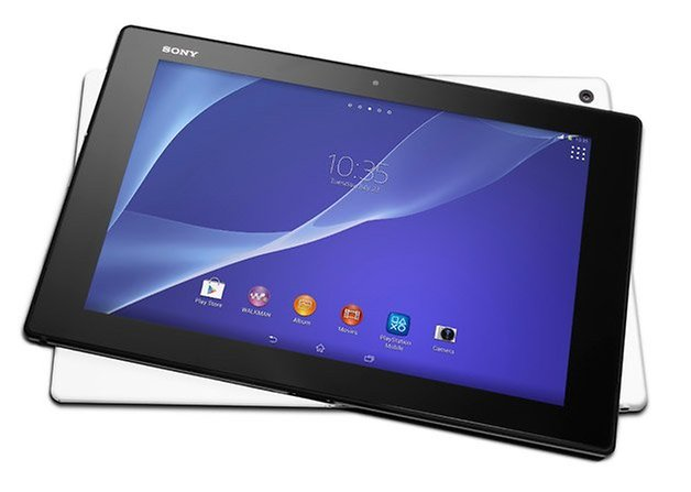 sony xperia z2 tablet front back